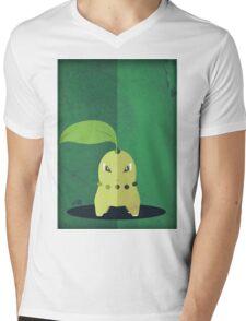 Pokemon - Chikorita #152 Mens V-Neck T-Shirt