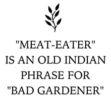 Funny Vegan 'Bad Gardener' by thepixelgarden