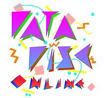 "DataDisc Online ""FUN90"" logo Photographic Print"