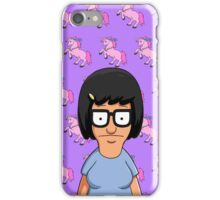 Tina Belcher Unicorn Pattern Purple iPhone Case/Skin
