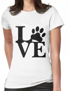 LOVE DOG PAW Womens Fitted T-Shirt