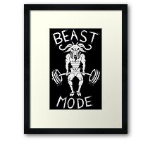 BEAST MODE Framed Print