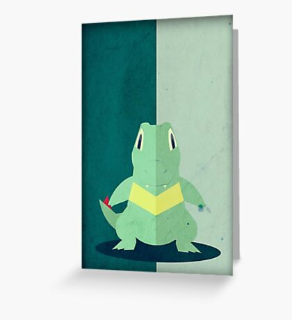 Pokemon - Totodile #158 Greeting Card