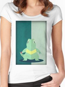 Pokemon - Totodile #158 Women's Fitted Scoop T-Shirt