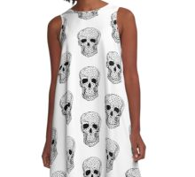 Black & White Skull A-Line Dress