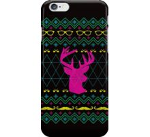 Ugly Hipster Sweater (Neon) iPhone Case/Skin