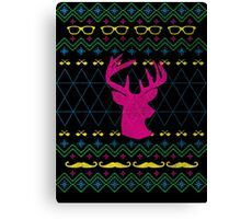 Ugly Hipster Sweater (Neon) Canvas Print