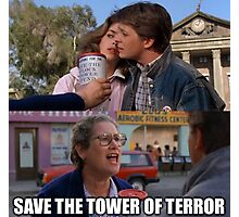 Save The Tower of Terror - Back To The Future Photographic Print