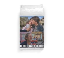 Save The Tower of Terror - Back To The Future Duvet Cover