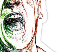 Jimmie Saffar Drawn as The Incredible Hulk Sticker