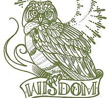 wisdom owl tattoo shirt by resonanteye