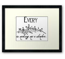 Every Mountain Framed Print