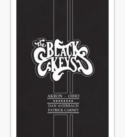 The Black Keys Black texture Logo Tall Sticker