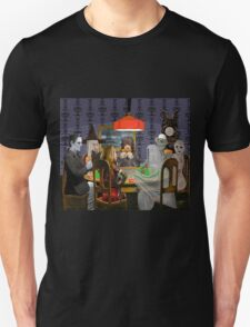 Classic Monsters Not Playing Poker - Playing Halloween Game: Halloweeja Unisex T-Shirt