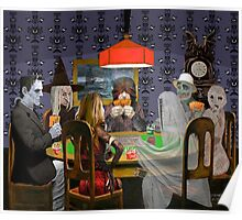 Classic Monsters Not Playing Poker - Playing Halloween Game: Halloweeja Poster