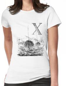 Garden Alphabet Letter X Womens Fitted T-Shirt
