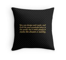 You can design and create... Inspirational quote Throw Pillow