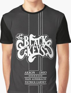 The Black Keys Black texture Logo Wide Graphic T-Shirt