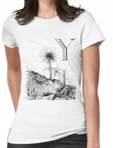 Garden Alphabet Letter Y Womens Fitted T-Shirt