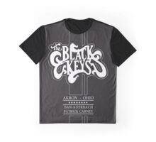 The Black Keys Black texture Logo Tall Graphic T-Shirt