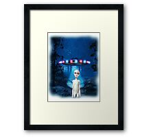 Forest UFO Close Encounter Framed Print