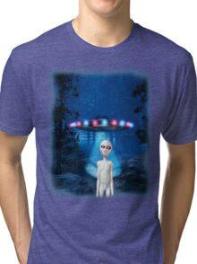 Forest UFO Close Encounter Tri-blend T-Shirt