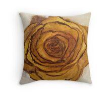 Golden Blossom Throw Pillow