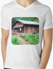 Traditional Windowless Hmong House  Mens V-Neck T-Shirt