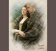 Outlander/Jamie & Claire sketch  Unisex T-Shirt