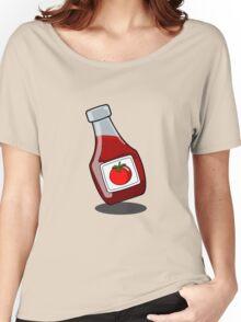 Cartoon Ketchup Bottle Women's Relaxed Fit T-Shirt