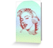 MARILYN MONROE ON STAINEDGLASS Greeting Card