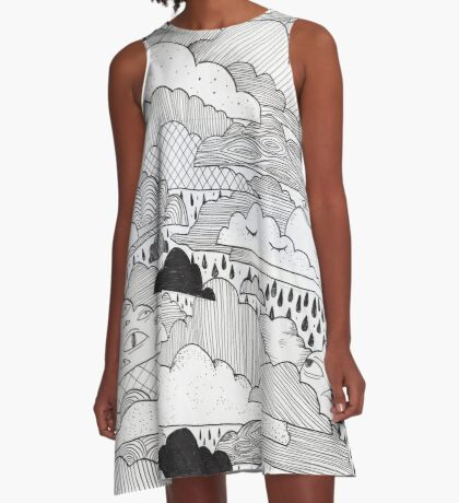 Clouds A-Line Dress