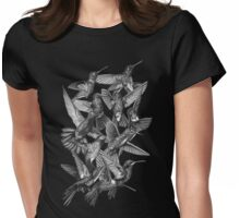 Hummingbird Dance in Sharpie (Grayscale Edition) Womens Fitted T-Shirt
