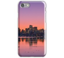 Dawn light on Boston and the Charles River. iPhone Case/Skin