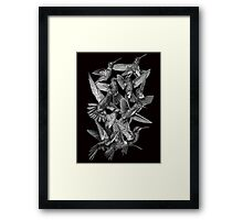 Hummingbird Dance in Sharpie (Grayscale Edition) Framed Print