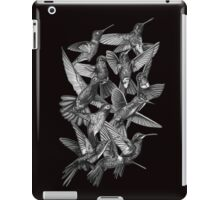 Hummingbird Dance in Sharpie (Grayscale Edition) iPad Case/Skin