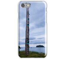 T'aanuu Llnagaay Totem Pole @ Haida Heritage Center iPhone Case/Skin