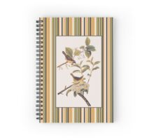 Audubon's Maryland Yellowthroat with Coordinating Stripes Spiral Notebook