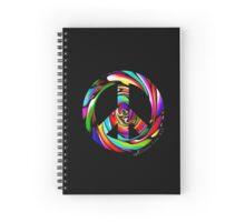 Rainbow Peace Swirl Spiral Notebook