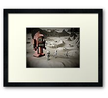 Thunder Robot and Toy Spacemen Retro Styled Framed Print