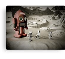 Thunder Robot and Toy Spacemen Retro Styled Canvas Print