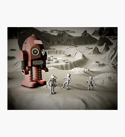 Thunder Robot and Toy Spacemen Retro Styled Photographic Print
