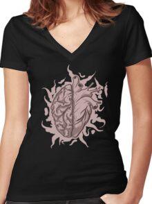 Brainheart Logo Women's Fitted V-Neck T-Shirt