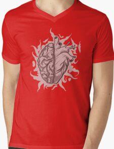 Brainheart Logo Mens V-Neck T-Shirt