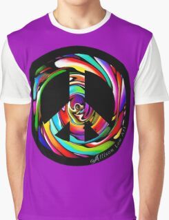Rainbow Peace Swirl Graphic T-Shirt