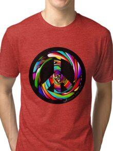 Rainbow Peace Swirl Tri-blend T-Shirt