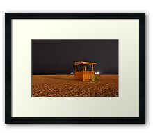 Beach Shack After Hours Framed Print