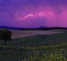 En~Lightning Landscape by Amber Graham (grahamedia)