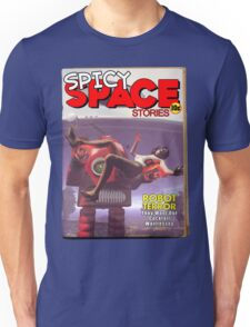 Spicy Space Stories Fake Pulp Cover Unisex T-Shirt