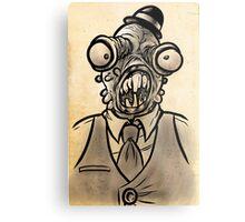 Horrible Fish Man Metal Print